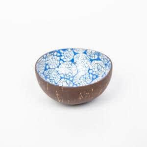 Kokosnussschale Blau, Eierschale + Perlmutt
