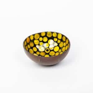 Kokosnussschale Gelb, Perlmutt
