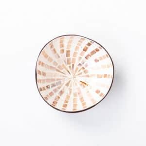Kokosnussschale Weiß, Perlmutt