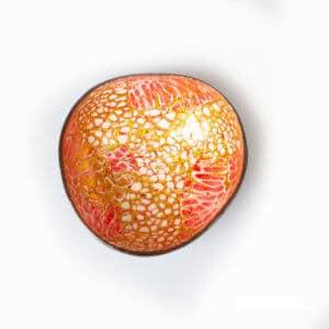Kokosnussschale rot Gold