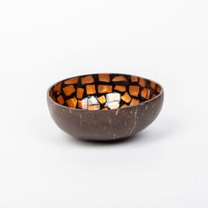 Kokosnussschale Orange, Perlmutt