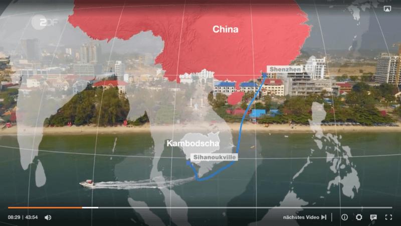 Ab Minute 8:25 Uhr zeigt die ZDF Reportage Kambodscha