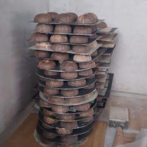 faire Herstellung von Kokosnussschalen