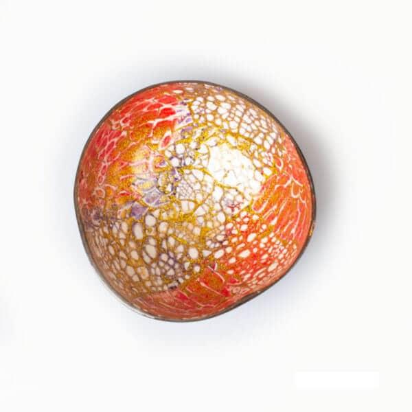 Kokosnussschale in unterschiedlichen Farben